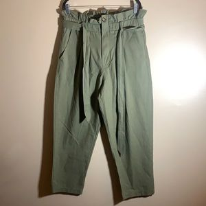 7 For All Mankind Green Pants NWT